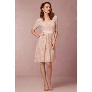 Watters Catania Romantic Pink Lace Floral Dress 6